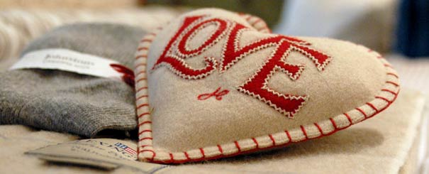 Jan Constantine Heart Cushion